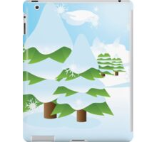 Fir tree on slope iPad Case/Skin