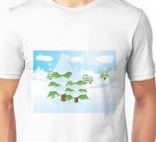 Fir tree on slope Unisex T-Shirt