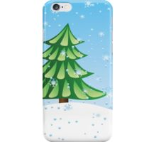 Fir tree on slope iPhone Case/Skin