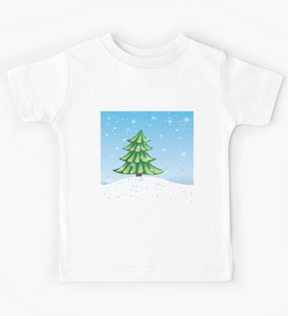 Fir tree on slope Kids Tee