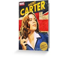 Agent Carter is Miss Union Jack Greeting Card