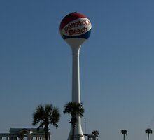Pensacola Beach Water Tower by Edith Farrell