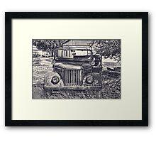 Old Soviet Jeep Framed Print