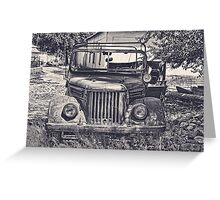 Old Soviet Jeep Greeting Card