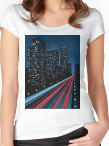 Night city Women's Fitted Scoop T-Shirt