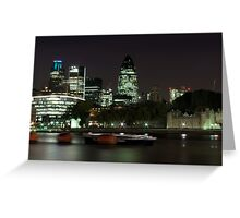 Gherkin Riverside Greeting Card