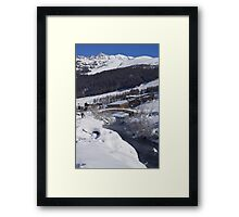 The River in the valley Framed Print