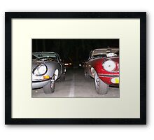 Jaguars at rest in front of the Queen Mary; Long Beach, CA 10-10-2008  Framed Print
