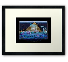 """""""Anubis Prepares the Way To Eternity"""" Framed Print"""