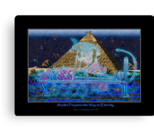 """Anubis Prepares the Way To Eternity"" Canvas Print"