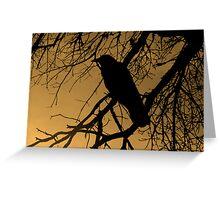 Creepy Crow Greeting Card