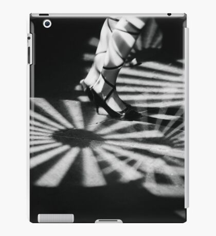 Feet of girl dancing in nightclub lights black and white silver gelatin 35mm film analog photograph iPad Case/Skin