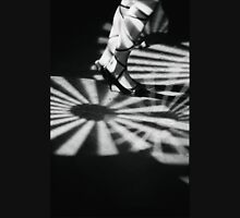 Feet of girl dancing in nightclub lights black and white silver gelatin 35mm film analog photograph Unisex T-Shirt