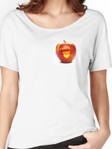 Apple I Love You Women's Relaxed Fit T-Shirt