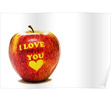 Apple I Love You Poster