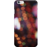 Red purple abstract photo of bokeh lights square Hasselblad 6x6 medium format film analogue photograph iPhone Case/Skin