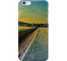 Winter road into dusk | landscape photography iPhone Case/Skin