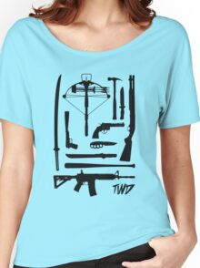 The Walking Dead Weapons Women's Relaxed Fit T-Shirt