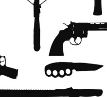 The Walking Dead Weapons Sticker