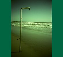 Beach shower in surreal green 35mm xpro cross processed lomographic film lomography analog photo Unisex T-Shirt