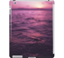Mediterranean sea water off Ibiza Spain in surreal purple sunset evening dusk colors film analog photo iPad Case/Skin