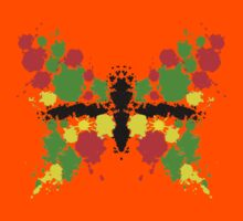 Symmetrical Butterfly Painting Kids Tee