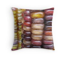 Corn Macro Throw Pillow