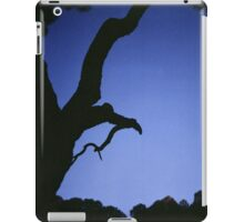 Tree branches in silhouette against blue dusk sky  square medium format film analogue photographs iPad Case/Skin