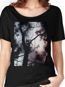 Tree branches on summer evening  in Spain square medium format film analogue photographer Women's Relaxed Fit T-Shirt