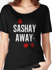 Sashay Away black Women's Relaxed Fit T-Shirt