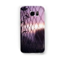 Wire fence and foliage on summer evening  in Spain square medium format film analogue photo Samsung Galaxy Case/Skin