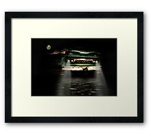 Only at night Framed Print