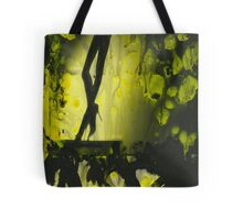 Yellow water color painted silver gelatin black and white print  of legs of female dancer analog film photo Tote Bag