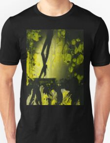 Yellow water color painted silver gelatin black and white print  of legs of female dancer analog film photo T-Shirt