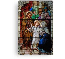 The Finding of the Child Jesus in the Temple Canvas Print