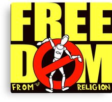 Freedom from Religion by Tai's Tees  Canvas Print