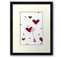 VIDEO HEARTS by Tai's Tees Framed Print