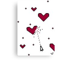 VIDEO HEARTS by Tai's Tees Canvas Print
