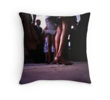 Young lady dancing in Spanish wedding party dance Hasselblad  analog film still life photo Throw Pillow