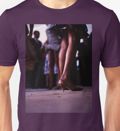 Young lady dancing in Spanish wedding party dance Hasselblad  analog film still life photo Unisex T-Shirt