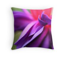 Purple fuschia Throw Pillow