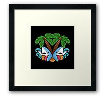 Left and right are in da house! -black- Framed Print