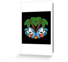 Left and right are in da house! -black- Greeting Card