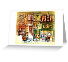 The old coffee house and sweet shop  Greeting Card