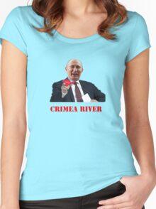 Crimea River Vladimir Putin Women's Fitted Scoop T-Shirt