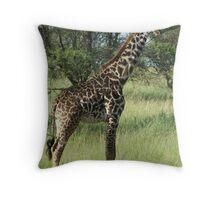 Young Masai Throw Pillow