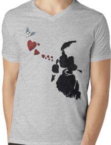 Bubblelove Mens V-Neck T-Shirt