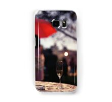 Summer rain - glass of champagne on table in garden wedding party Hasselblad  analog film still life photo Samsung Galaxy Case/Skin