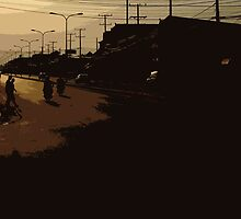 vientiane sunset by Yuval Fogelson