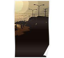 vientiane sunset Poster